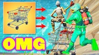 *NEW* FUNNIEST SHOPPING CART MOMENTS! (Fortnite Battle Royale) Fortnite Epic & Funny Moments #174