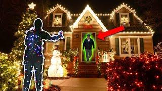 CHRISTMAS LIGHTS DING DONG DITCH PRANK! (IMPOSSIBLE TO FIND)