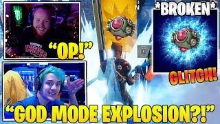 STREAMERS Reacts TO *NEW* Unlimited EXPLOSIONS Through Structures GLITCH! (Fortnite FUNNY Moments)