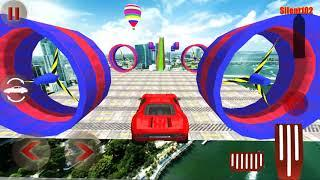 Impossible Red Sport Car - GT Track Extreme Racing Car Stunts - Android Gameplay