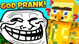 GOD MODE PRANK! | INVISIBLE COMMANDS LUCKY BLOCK MINECRAFT MODDED MINIGAME