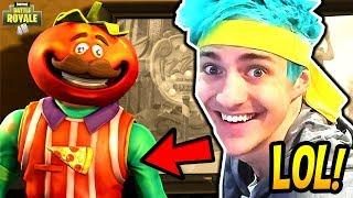NINJA REACTS TO *NEW* TOMATOHEAD SKIN! *EPIC* Fortnite SAVAGE & FUNNY Moments