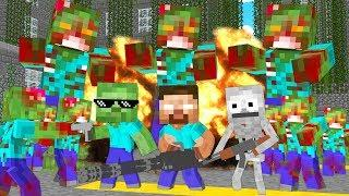 Monster School : ZOMBIE APOCALYPSE CHALLENGE - Funny Minecraft Animation