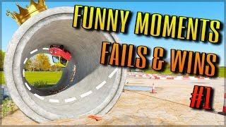 RACING GAME MONTAGE #1 | Funny Moments, Fails, Wins & Epic Stunts!