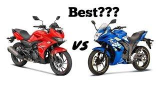 Hero Xtreme 200S vs Suzuki Gixxer SF ABS | Suzuki Gixxer SF ABS vs Hero Xtreme 200S