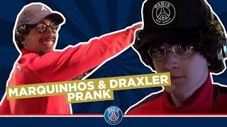 PRANK : MARQUINHOS & JULIAN DRAXLER MAKE A SURPRISE TO PSG KIDS!