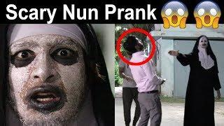 THE NUN Scary Prank   OMG must watch