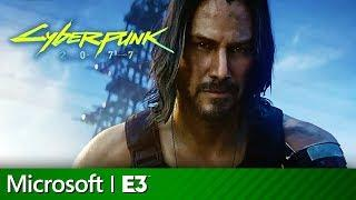 Cyberpunk 2077 Full Presentation With Keanu Reeves | Microsoft Xbox E3 2019
