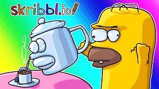 Skribbl.io Funny Moments - Tea at the Pub With Homer!
