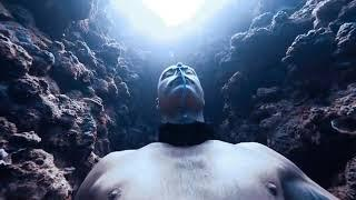 UnderWater dive  without taking Breath. Extreme Sports.  Adventure