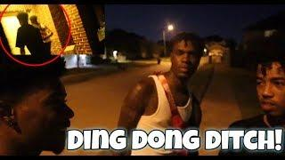 EXTREME DING DONG DITCH PRANK!! FT KING (COPS CALLED)