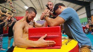 INSANE Flips BATTLE Ends With EXTREME ARM-WRESTLING