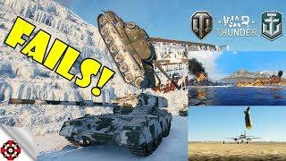 ARMORED FAILS - Funny & Epic Moments from WOT, WOWS, WT! (June 2018)