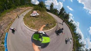Extreme Downhill Longboarding in 360º - GoPro Fusion