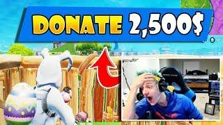 NINJA REACTS TO FAN DONATE 2,500$! FORTNITE - STREAM FUNNY MOMENTS & TWITCH HIGHLIGHTS #7