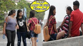 Cute girl staring at Marine drive (horrible reaction) prank on Cute girl's | prank in India | BRbhai