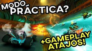 MODO PRÁCTICA, dos SOUNDTRACKS, GAMEPLAY de ATAJOS! Y + INFO | Crash Team Racing Nitro Fueled