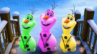 Learn Colors with Olaf's Frozen Adventure /Colorful Funny Olaf Best Scenes Animation for Kids #3