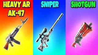 HEAVY AR vs SNIPER vs SHOTGUN in Fortnite Battle Royale! (Fortnite Funny Fails and Best Moments)