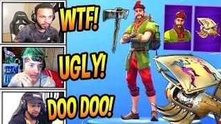 "STREAMERS REACT TO *NEW* ""HACIVAT"" SKIN! *EPIC* + SHADOW PUPPET GLIDER! Fortnite FUNNY Moments"