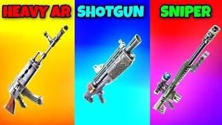 HEAVY AR vs SHOTGUN vs SNIPER in Fortnite Battle Royale! (Fortnite Funny Fails and Best Moments)