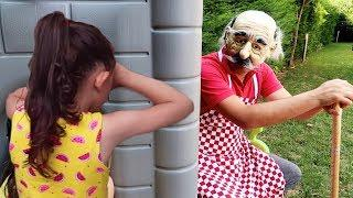 Sulu Şaka!! Grandpa Prank on Kids Family Fun - Hide and Seek - Oyuncak avı Öykü