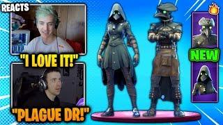 STREAMERS REACT TO *NEW* PLAGUE & SCOURGE SKINS! (Funny Fortnite Videos)