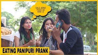 "Eating Girls ""PANIPURI"" Prank on Cute girls  | Funky Joker"
