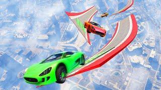 EXTREME MILE HIGH WALLRIDE JUMPS! (GTA 5 Funny Moments)