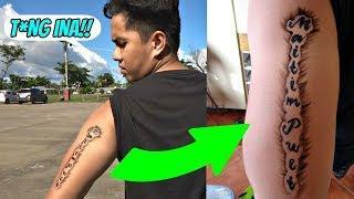 UGLY TATTOO PRANK ON MY BOYFRIEND! | (NAGALIT SYA SA SOBRANG GANDA!)