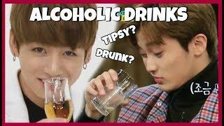 KPOP IDOLS VS ALCOHOLIC DRINKS l FUNNY l TIPSY l DRUNK MOMENTS #1  ???? BTS REDVELVET BTOB iKON EXO