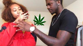 SMOKING WEED PRANK ON BOYFRIEND!!! | NOEY&XANDEN