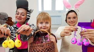 Easter Bunny brought Easter eggs  Bunny  learn to count  Funny Video for Kids by Margo
