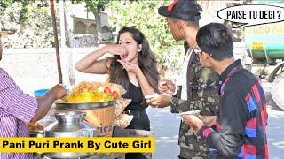Eating PANIPURI Prank By Cute Girl - Epic Reactions | Prank In India | The Japes