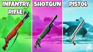 INFANTRY RIFLE vs SHOTGUN vs PISTOL - Fortnite Battle Royale (Fortnite Funny Fails and Best Moments)