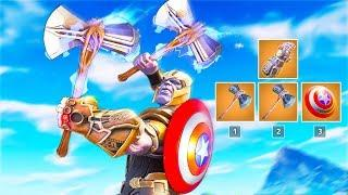 *RARE* THANOS WITH AVENGER WEAPONS..!! | Fortnite Funny and Best Moments Ep.471 (Fortnite Royale)
