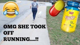 SUPER ENERGY PILL PRANK ON GIRLFRIEND!! (GONE CRAZY)