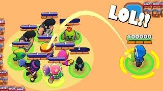 INSANE FUNNY LUCKY & FAIL MOMENTS! Brawl Stars Funny Moments & Glitches #18