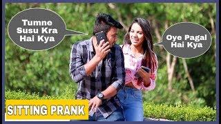 Boy Sitting Prank On Cute Girls #AKYFILMS