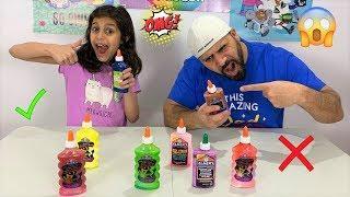 Real vs Prank Slime! Don't Choose The Wrong Glue Color Slime Challenge