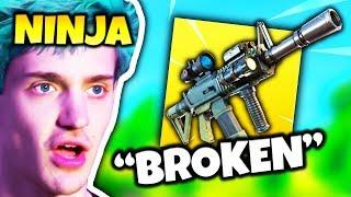 NINJA REACTS TO *NEW* THERMAL SCOPED ASSAULT RIFLE | Fortnite Daily Funny Moments Ep.97