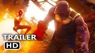 AVENGERS INFINITY WAR Spiderman Kicks Thanos Trailer NEW (2018) Marvel Superhero Movie HD