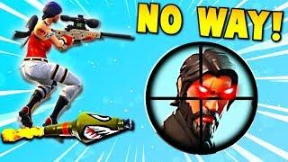 INSANE ROCKET RIDE SNIPER SHOT... ???? (Fortnite Battle Royale Funny Moments)
