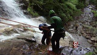 Extreme Sports: Anthony Everett Tries Waterfall Rapelling