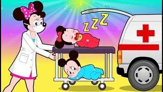 Mickey Mouse & Minnie Mouse Learn Colors Funny Story!???? Itsy Bitsy Spider Cartoon for Kids