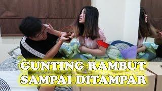 BUKAN PRANK !! POTONG RAMBUT BENERAN !! SAMPE DI GAMPAR !! PART 1