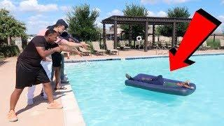ROOMMATE WAKES UP IN SWIMMING POOL PRANK!