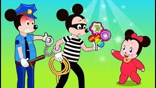 Mickey Mouse & Minnie Mouse Stolen with candy color Funny Story ???? Cartoon for Kids by Mickey Mous