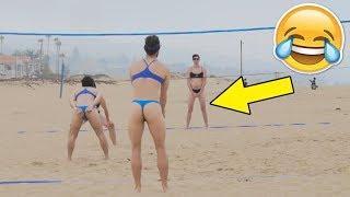 MEN IN BIKINI !? Funny Volleyball Videos (HD)