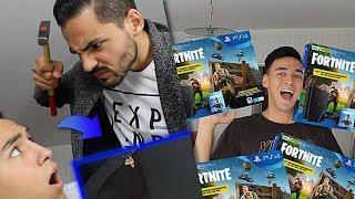 MEIN BRUDER ZERSTÖRT meine PS4 & kauft 100 neue PRANK!!